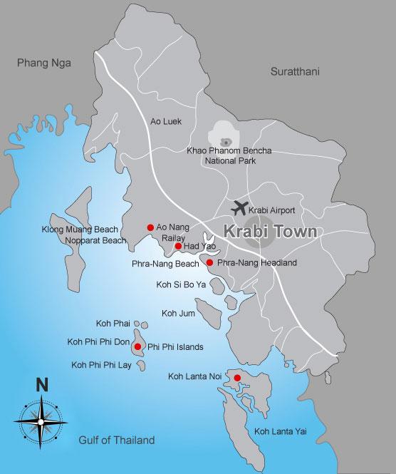 Krabi mapbased search form Siam Real Estate